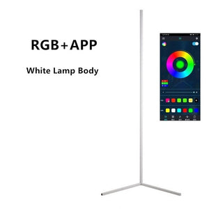 Nordic Minimalist RGB Corner Floor Lamp, Modern, Simple, LED for Living Room, Bedroom, Indoor Light Fixtures