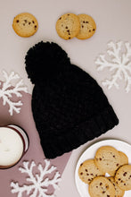 Load image into Gallery viewer, Bella Knit Beanie in Black