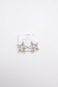 Tree Topper Star Earrings in Silver