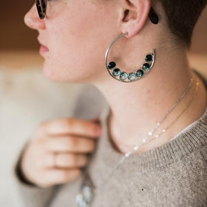 Moon Phase Hoop Earrings