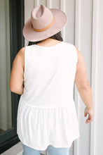 Load image into Gallery viewer, Basic Babydoll Tank In Ivory