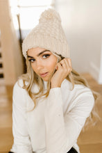 Load image into Gallery viewer, Bella Knit Beanie in Cream