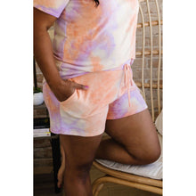 Load image into Gallery viewer, Brushed Knit Tie Dye Lounge Shorts In Coral