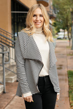 Load image into Gallery viewer, Business Casual Striped Jacket in Black