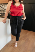 Load image into Gallery viewer, Business Woman Paperbag Pants in Black