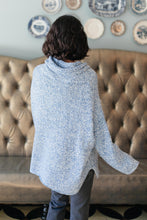 Load image into Gallery viewer, Cozy Cowl Neck in Heather Blue