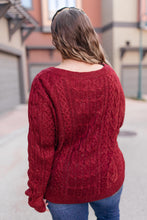 Load image into Gallery viewer, Cozy Cropped Sweater in Cranberry