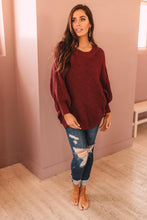 Load image into Gallery viewer, Designed For Details Sweater in Wine