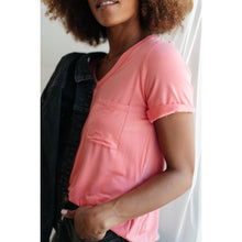 Load image into Gallery viewer, Essential V-Neck Tee In Pink