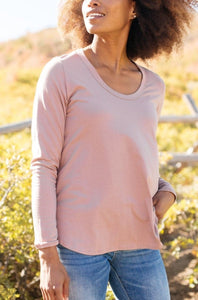 Every Girl's Favorite Basic Top in Mauve