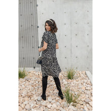 Load image into Gallery viewer, Fall Fancy Tiered Dress In Midnight