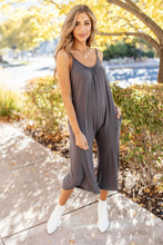 Load image into Gallery viewer, Good Better Best Cropped Tank Jumpsuit in Charcoal