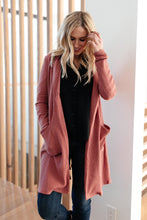Load image into Gallery viewer, Hooded and Laced Cardigan in Blush