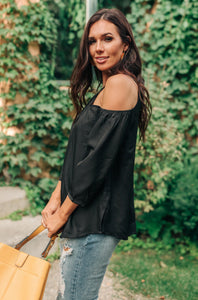 Hot Then Cold Blouse In Black