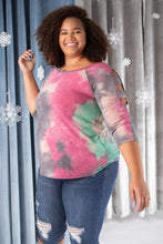 Load image into Gallery viewer, Leslie Ladder Sleeve Top in Fuschia