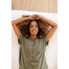 Load image into Gallery viewer, Luxurious Loungewear Top In Olive