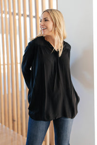 Professionally Casual Top in Black
