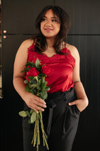 Load image into Gallery viewer, Roses and Satin Tank