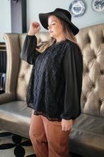 Load image into Gallery viewer, Grace Black Lace Blouse