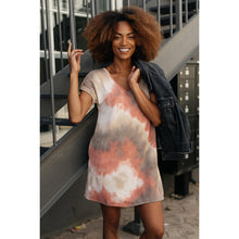 Load image into Gallery viewer, Tie Dye T-Shirt Dress In Mocha
