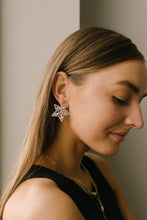Load image into Gallery viewer, Tree Topper Star Earrings in Silver