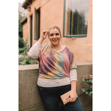 Load image into Gallery viewer, Whitney Wide V Tie Dye Pullover