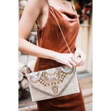 Load image into Gallery viewer, Beaded Elegance Crossbody Clutch