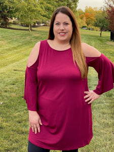 Southern Belle Top in Burgundy