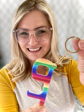 Load image into Gallery viewer, My Rainbow Hands Free Door Opener Keychain