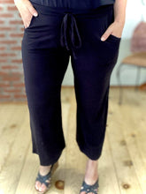 Load image into Gallery viewer, My Cropped Ultimate Lounge Pants in Black