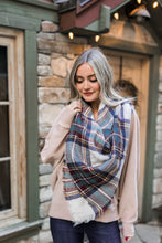 Load image into Gallery viewer, Mad For Plaid Blanket Scarf In Wine + Sage