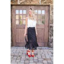 Load image into Gallery viewer, Midnight Spotted Midi Skirt