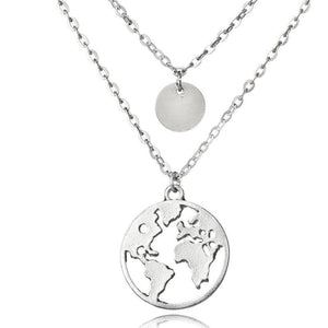 World Map Necklace