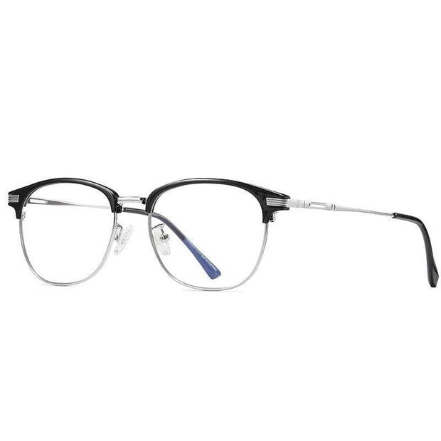 Blue Light Glasses | Branded Black Silver