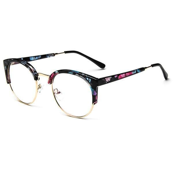 Blue Light Glasses | For Wide Face Flowers