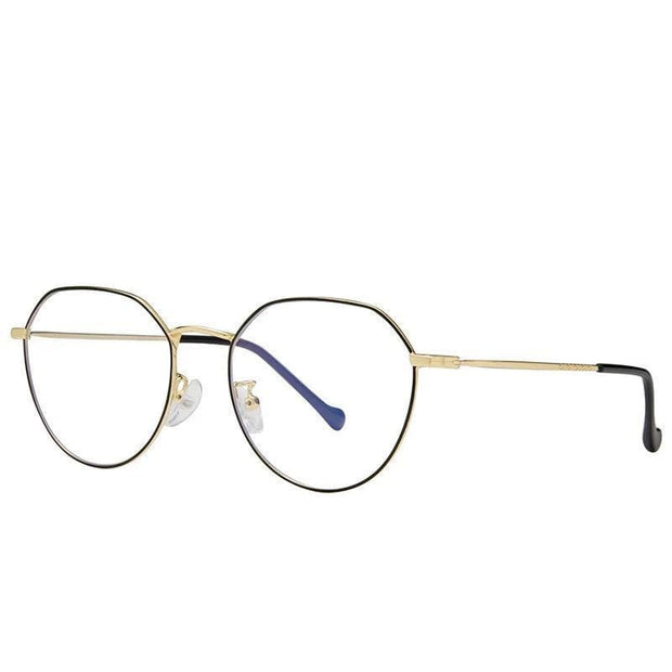 Clear Frame | Blue Light Glasses Black Gold