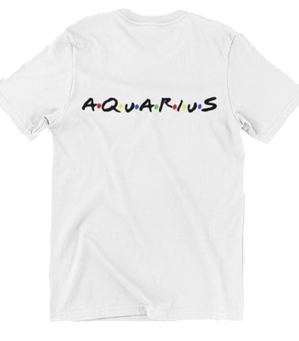 T-Shirt Signe Astrologique<br>Friends Verseau