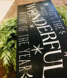 It's the Most Wonderful Time of the Year Painted Wood Sign