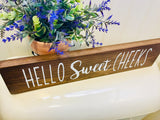 Hello Sweet Cheeks Bathroom Painted Wood Sign