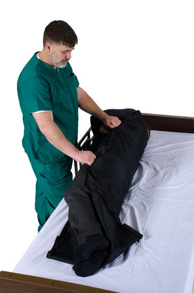 Tubular Reusable Slide Sheet with Handles for Patient Transfers, Turning and Repositioning (48