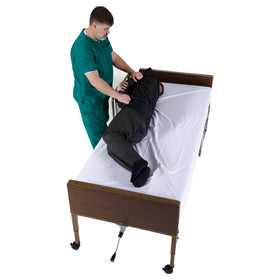Tubular Reusable Slide Sheet with Handles for Patient Transfers, Turning and Repositioning (28
