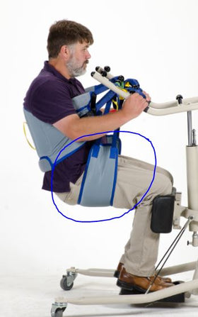 Patient Aid Bariatric Sit to Stand Lift Buttock Strap, Stand Assist Sling (Extra Large) 600lb Weight Capacity
