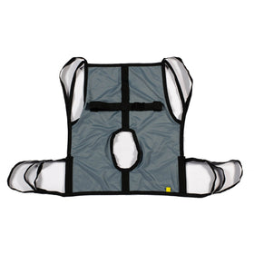One Piece Commode Lift Sling with Positioning Strap