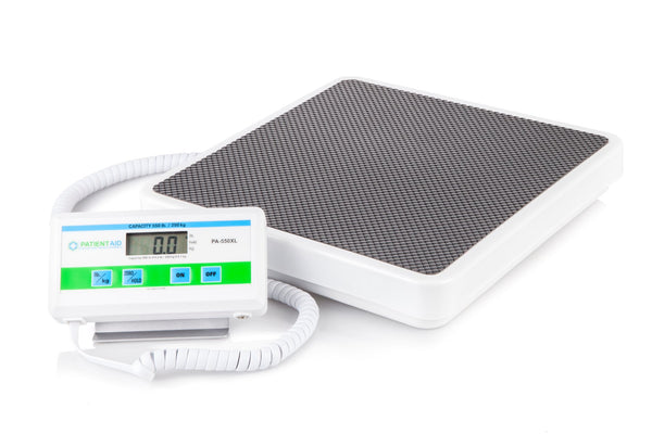 Medical Heavy Weight Floor Scale: Digital Easy Read and High Capacity Health and Fitness Portable Scale with Battery and AC Adapter