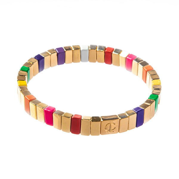 Seabreeze/Gold Tile Bracelet