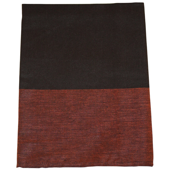 Belgian Home Linens - Mocha and orange block