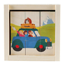 Load image into Gallery viewer, Swiss Wood Transportation Puzzle