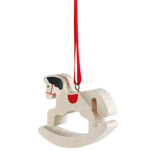 Swiss Wood Ornaments - Rocking Horse