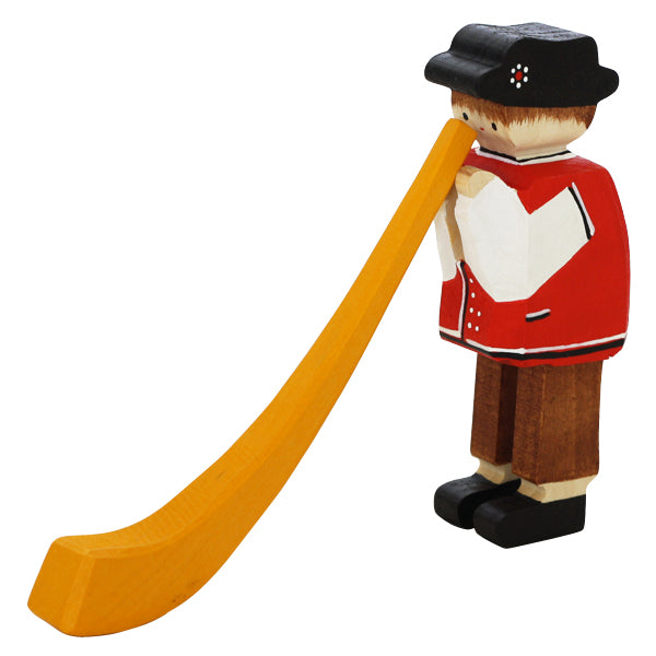 Swiss Alphorn Player