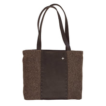 Load image into Gallery viewer, Swiss Army Blanket and Leather Tote Bag